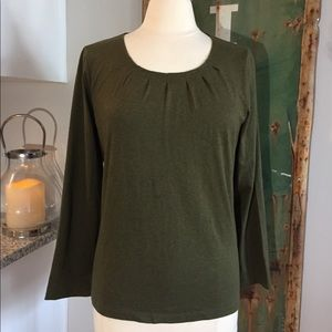 NWOT Talbots Beautiful Olive Green Top Sz Large